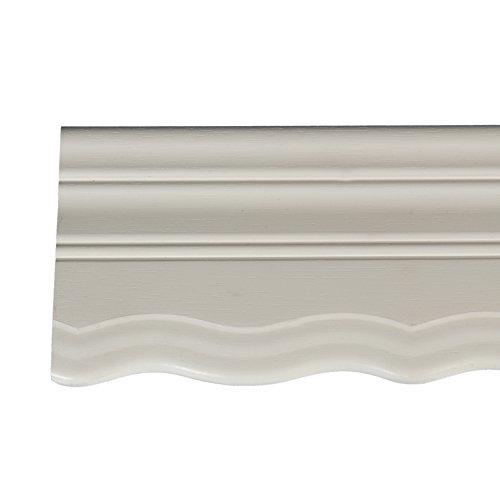 Liedeco Holzblende geschweift 9 cm für Vorhangschiene, Gardinenschiene 210 cm weiß