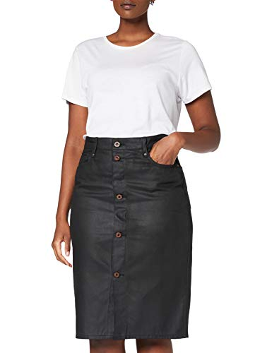 G-STAR RAW Womens Noxer Navy Pencil Button Slim Skirt, Waxed Black Cobler C526-A946, 24