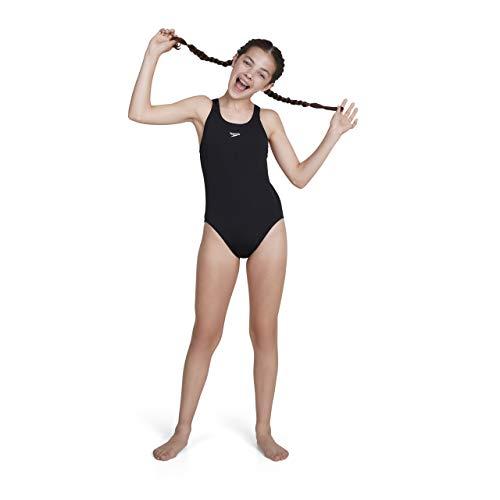 Speedo Mädchen Essential Endurance+ Medalist Swimwear, Schwarz, 32 (13-14 Years)