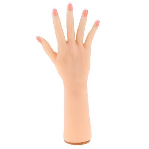 F Fityle 1: 1 Gel de Silicona Modelo de Mano Femenina Dedos Y Articulaciones Flexibles Práctica de Arte de Uñas Joyería Prop Juguete de Ciencia-Derecho