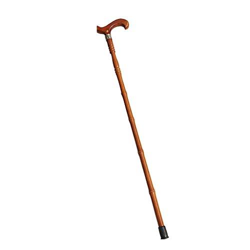 HAIYING wandelstok T-handvat draagbare bamboe massief hout stok ouderen/mensen met een handicap/artritis/wandelen 96.5CM