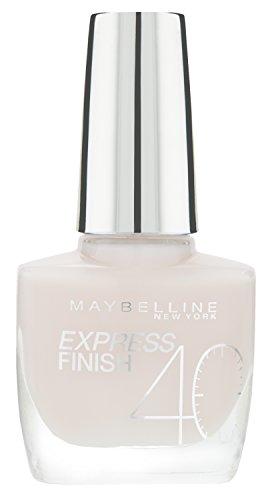 Maybelline Express Finish Nagellack, Nr. 316/80 Rose Rush, trocknet in nur 40 Sekunden, Schock-Control-Film schützt die Farbe vor Absplittern, in hellem zart-rosa, 10 ml