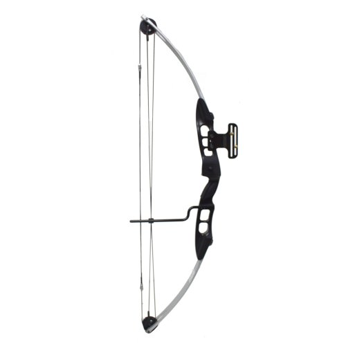 SERGEANT 40-65 Lb 27-29'' Draw Length Compound Bow with Cable Guard, Sight and Arrow Rest (Silver/Black)