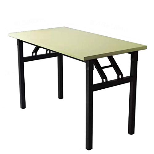 AOIWE Mesa Plegable, Rectangular Mesa de Comedor, Mesa de Oficina Inicio/Mesa de Ordenador/Estudio/Escritorio, portátil Multifuncional Puesto de Mesa, 6 Tamaños (Size : 120X60X74CM)