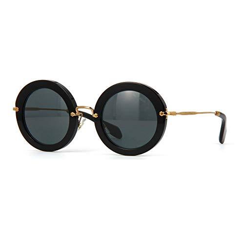 Miu Miu 0MU13NS 1AB1A1 49 Gafas de sol, Negro (Black/Gray), Mujer