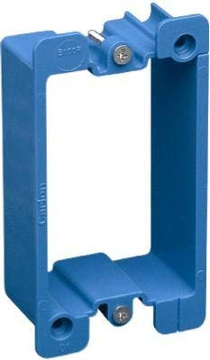 "Carlon B1EXT-CRD PVC Box Extender For Non-Metallic Single-Gang Wiring Boxes, Extends Existing Box By 1-1/8"", 3.28"" Length, 2.18"" Width, 1.25"" Depth, Blue (Pack of 12)"