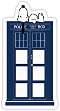 Chili Print Snoopy/Dr. Who - Sticker Graphic Bumper Window Sicker Decal - Doctor Who Dr Who Sticker