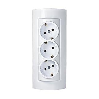scheda auto-presa/presa su un supporto completo nuovo da parete 3 vani più acceso ecker, più ingressi, multi connettore