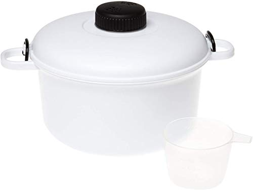 Olla a presión para microondas Ossian – Grande 2,8 l compacto fácil de cocinar Micro Kitchen Master con taza de medición y espátula libro de recetas – forma sana y rápida de cocinar buena comida