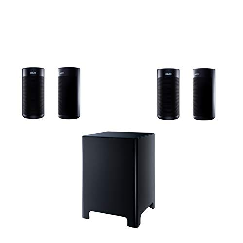 Revox STUDIOART A100 + P100 (Paar) Lautsprecher + B100 Subwoofer Room Speaker schwarz weiß Bluetooth (Set schwarz)