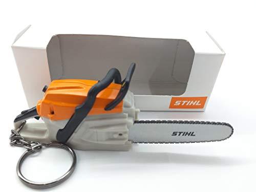 Stihl Schlüsselring in Kettensägen-Form, batteriebetrieben