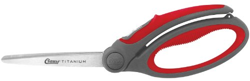 Clauss 18073 9-Inch Titanium Bonded Spring Assisted Shear - Grey/Red
