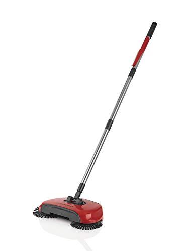 CLEANmaxx 02126 - Escoba con 3 cepillos, recogedor, depósito de Recogida, Giratorio, Estilo Largo Giratorio, máquina de Limpieza y Juego de barredora