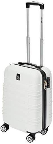 Mala Viagem Pequena ABS Rígida 4 Rodinhas 360° Branca Cadeado Fixo Santino