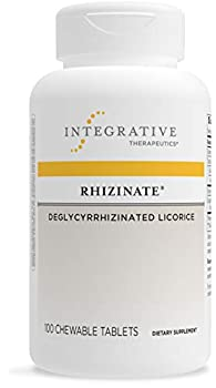 Integrative Therapeutics Rhizinate - Deglycyrrhizinated Licorice  DGL  - Supplement for Stomach Intestinal and Digestive Support with Licorice Root Extract - Gluten Free - Dairy Free - Vegan - 100 Chewable Tablets