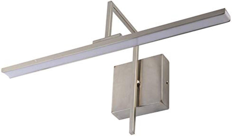 SXFYWYM LED-Badezimmer-Spiegel-Licht-Eisen-Winkel-justierbarer Toiletten-Spiegel-Kabinett beleuchtet Wandlampen-Beleuchtung,sandnickel,40cm