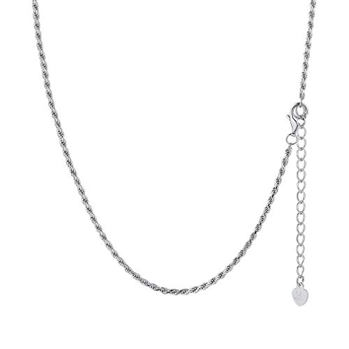 PROSTEEL Twist Rope Chain Necklace 22 inch Women Choker 925 Sterling Silver Jewelry Gift