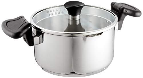 アイリスオーヤマ 両手鍋 20cm ガス火/IH対応 湯切り鍋 お手入れ簡単 ステンレス シルバー SP-PY20