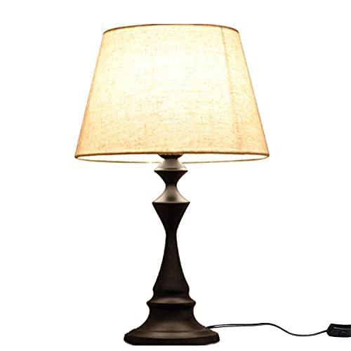 Lámpara de mesita de noche con control táctil, moderna lámpara de escritorio con luces regulables, lámpara de noche para dormitorio, salón, oficina, salón Girl Boy, interruptor de botón