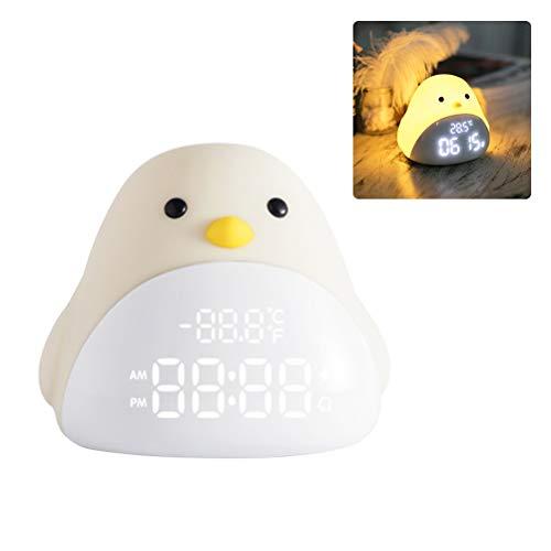 Cartoon schattige vogel nachtlampje wekker siliconen touch USB LED nachtlamp voor kinderen baby kinderen cadeau