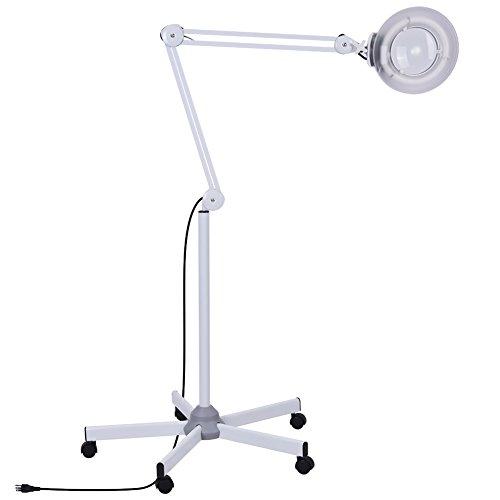 Lámpara de Mesa con Lupa, 5X Lupa 15W LED Lámpara Lente Circular...