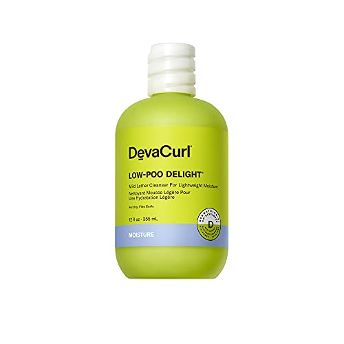 DevaCurl Low-Poo Delight Mild Lather Cleanser for Lightweight...
