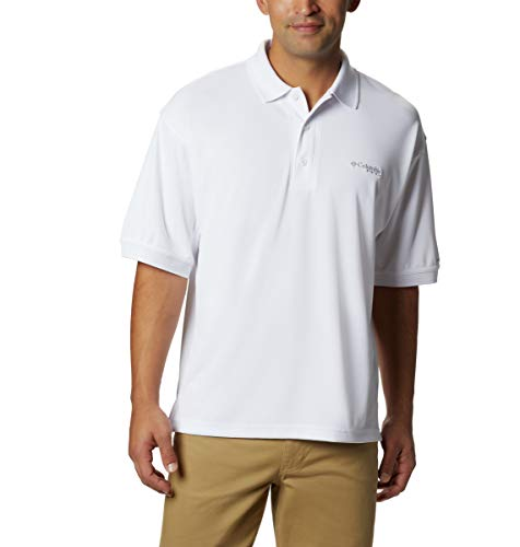 Columbia Polo PFG Perfect Cast pour Homme, Blanc, Taille 3XL