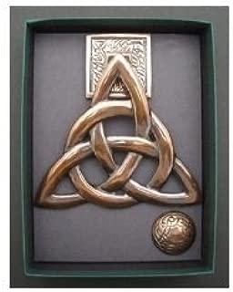 Brass w/ Copper Finish Trinity Knot Door Knocker