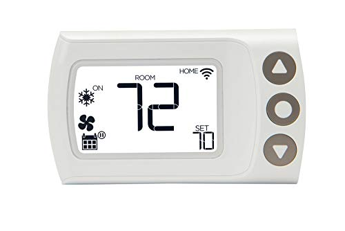 LUX CS1 Smart Programmable Digital Wi-Fi Thermostat, Android and iOS App Compatible, Geofencing, Custom & Auto Scheduling – White