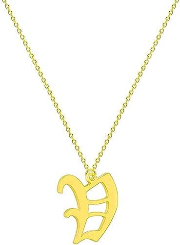 Yiffshunl Collar Carta Collar de Pareja Hombres Mujeres Nombre Inicial Joyería Acero Inoxidable Oro Rosa Oro étnico Amistad Collares Regalo Neklace para Mujeres