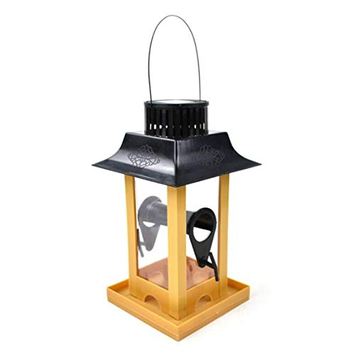 KKAAMYND Comedero creativo para pájaros para balcón y loros, con gran almacenamiento, color rojo vino, un buen ayudante: este comedero para pájaros es un buen ayudante para alguien que guarda