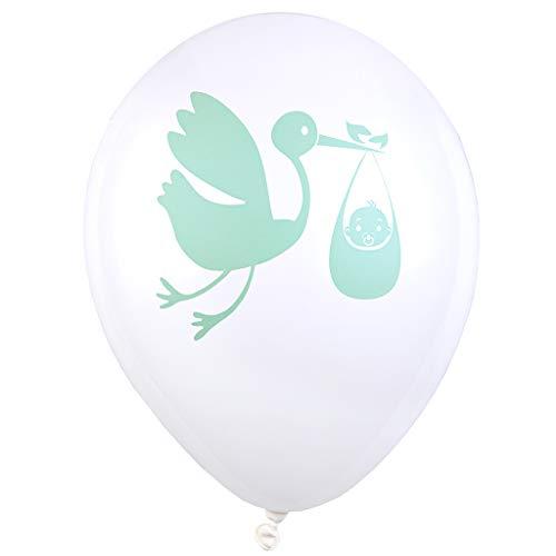 SANTEX 5727-10, Sachet de 8 Ballons gonflables Baby Shower, Vert