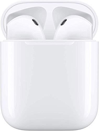 Preisvergleich Produktbild Bluetooth Kopfhörer5.0,  Smart Touch Wireless Kopfhörer,  IPX7 wasserdichte Sportkopfhörer,  3D-Surround-Sound Binauraler HD-Anruf In-Ear-Kopfhörer,  Automatisches Pairing für Apple Airpods iPhone (White)