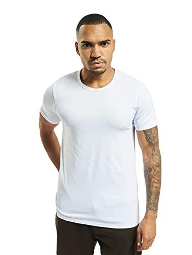 Jack & Jones Jones - Camiseta de manga corta con cuello redondo para hombre, color blanco (optical white), talla XL