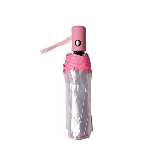 Paraguas automático de la Auto-Cierre de sombrilla Transparente Plegable Masculino Creative Creative...