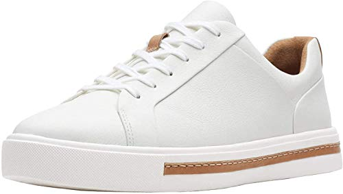 Clarks Un Maui Lace Womens Sneakers White Leather 11