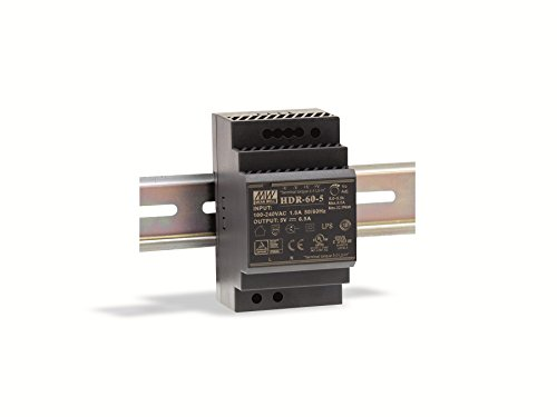 Mean Well Din-Rail Netzteil 60 W, 24 V, 2,5 A, MeanWell HDR-60-24