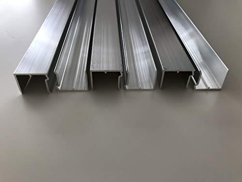 Alu-Abschlußprofil für Stegplatten aus XT PC PMMA Acrylglas Aluminium U-Profile Alu-U-Abschlussprofil Stärke 16 mm Länge 1200 mm mit Tropfkante