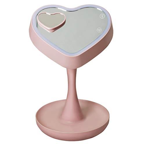 Miroirs de poche Miroir de Maquillage Portable Miroir de Bureau vanité LED lumière Princesse Miroir Pliable Lampe de Bureau Simple créatif HD coloré Maquillage Miroir