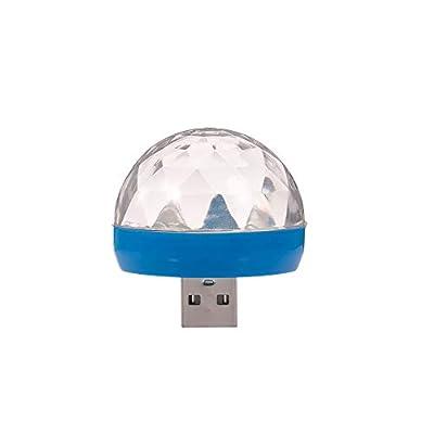 Docooler LED RGB Mini Light DJ KTV Disco Light Sound Control Magic Ball Lamp 4W for Car/Home and Festival