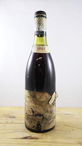 Wein Jahrgang 1969 Chassagne Montrachet abbaye de Morgeot Flasche