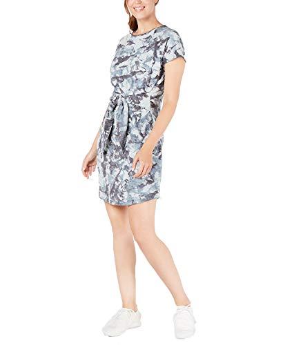 Ideology Womens Tie-Dye Tie Front Dress Blue S