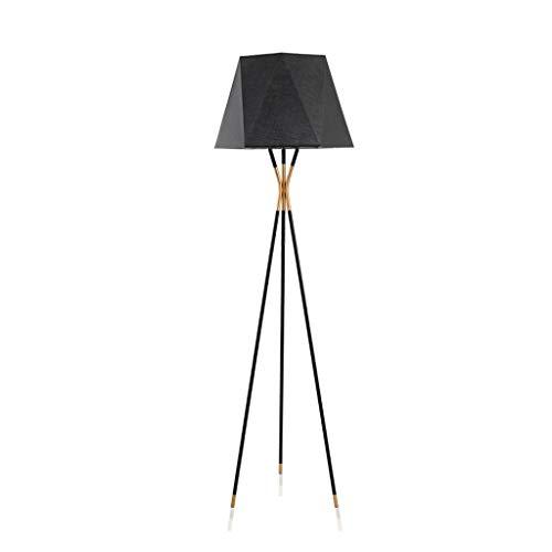 OUPPENG Floor Study Sofa Floor Lamp, Modern Living Room Bedroom Study Lamps Nordic Fabric Lamp Shade Tripod Floor Lamp - Design Fixture Lighting Design Fixture