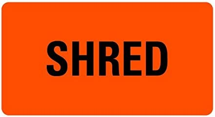 Shred Now on sale Medical Records Superior LV-MRL23 Labels