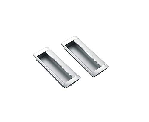 ZEK Tiradores Ocultos para Puertas Tiradores Plateados para gabinetes Tiradores para gabinetes para Puertas de Dormitorio Tiradores de Aluminio para cajones Herrajes para Muebles (2 Piezas)