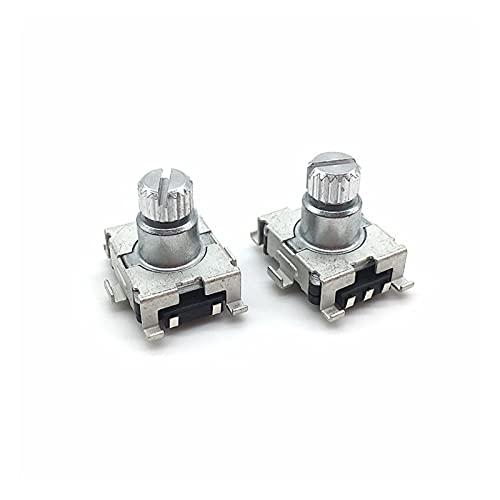 JSJJAET Interruptor Giratorio 2 unids/Lote EC11 Codificador de codificador de codificador de codificador 30 Posición con Interruptor de botón pulsador SMD 5Pin Manija de Longitud 9.5mm Eje de Ciruelo