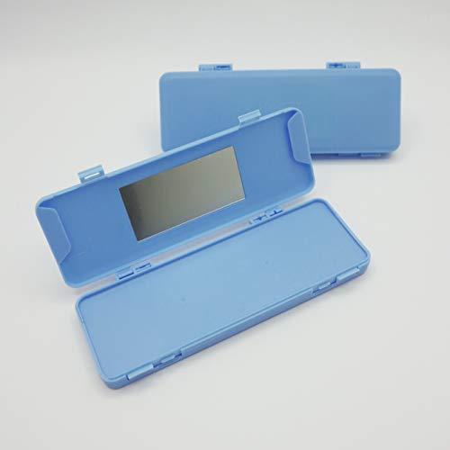 Cussi - 2er Pack MaskCase rechteckige Aufbewahrungsboxen für Masken (blau)