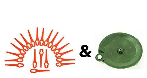 Florabest 20 Messer & 1 Schneidscheibe LIDL Akku Rasentrimmer Fat 18 B2 und Fat 18 B3 IAN 71315 86154 95940 102971 273039
