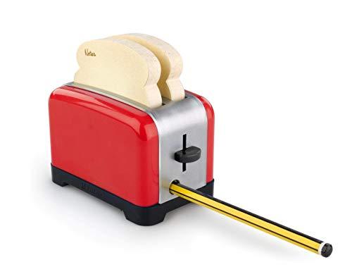 Der ultimative OfficeToaster - Rot: Halter für Memopads, Büroklammern, Handydock, Bleistiftspitzer