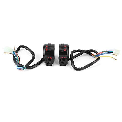 Control de interruptor de manillar de motocicleta, interruptor de manillar de motocicleta ligero de PVC, fácil de instalar y duradero para Honda Suzuki, Yamaha